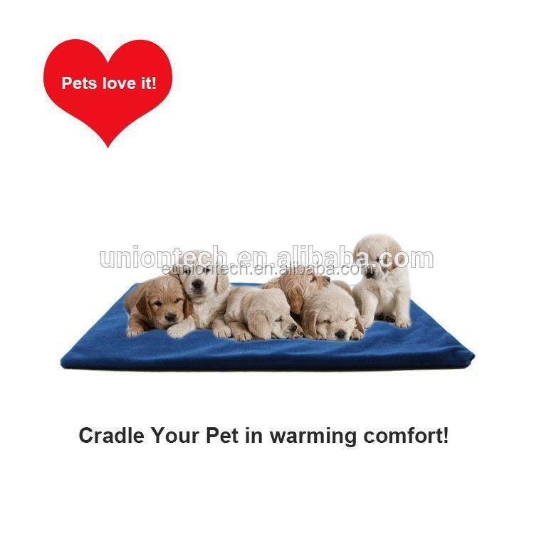 High quality pet heating pad with thermostat Waterproof heating pet mat Chew resistant pet heat blanket CE 12V Warm Safety