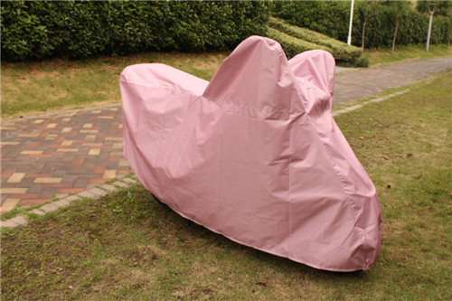 190t polyester coating silver motorbike motorcycle cover at factory price