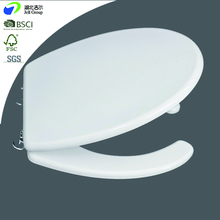 Jell Sanitary Bathroom Accessories Open Front Style Soft Slow Close Zinc Alloyed Hinges Moulded Wood Toilet Seats