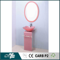 wash basin cabinet glass bathroom cabinet