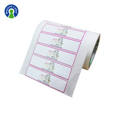 Custom Printing Color Hair Bundle Wraps Adhesive Private Package Labels