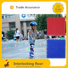 Easy Installing Colorful pp roller skating court flooring
