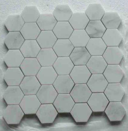 Sechseck nat rliche ost wei em marmor mosaik fliesen - Fliesen sechseck ...