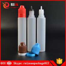 USA market 10ml 15ml 30ml 50ml 60ml pe unicorn pen plastic dropper bottle with childproof and tamper evident