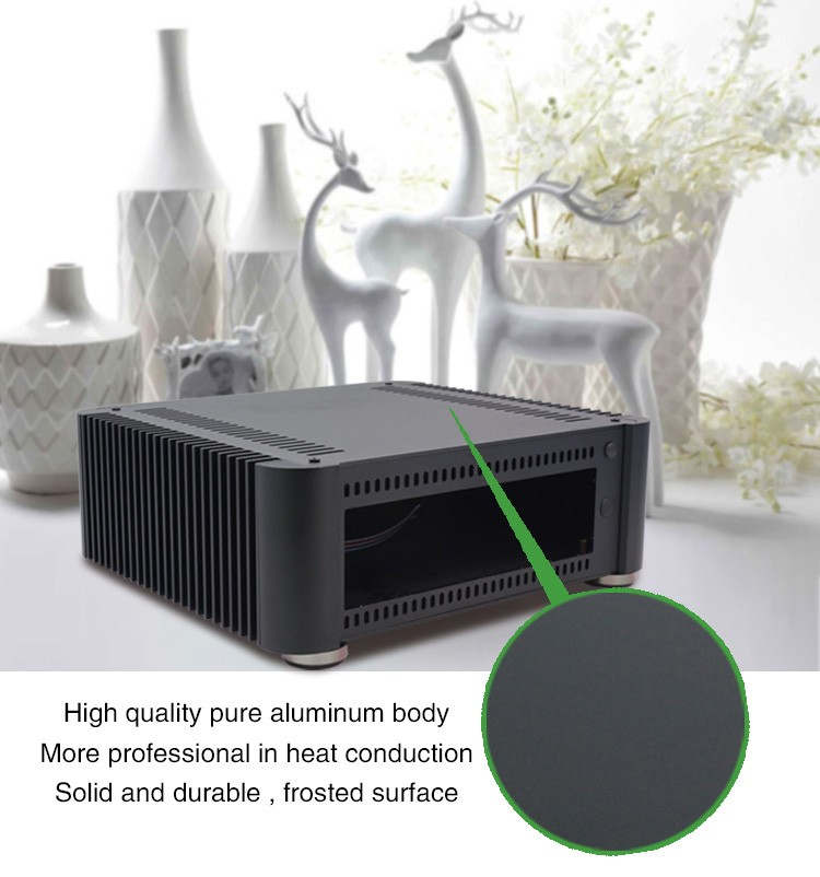 2017 Hot Selling Pure Aluminum Ultra Thin Horizontal Computer Mini Itx Case T8 For Home Theater PC