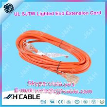 UL SJT SJTW SJTOW PVC Flexible cable lighted Locking extension cord
