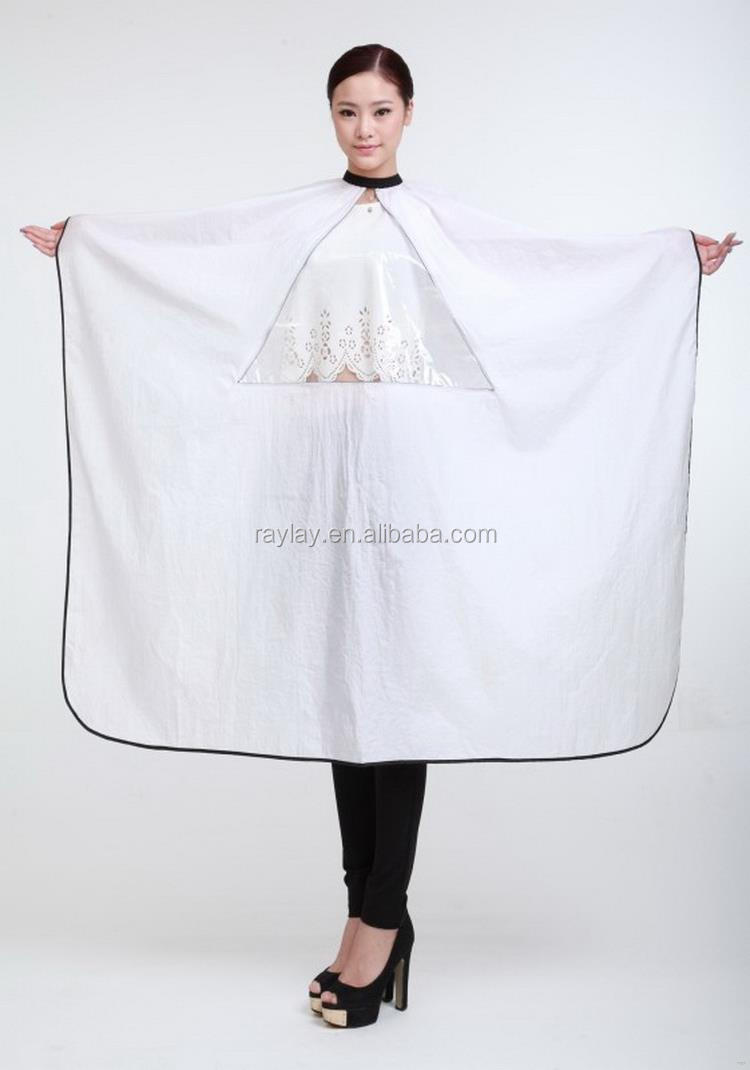 Top level hot selling hairdressing cape type hair cutting bib
