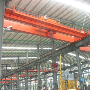 Mobile 25 ton double beams girder overhead bridge crane with electric trolley