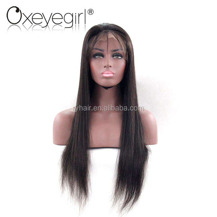 Wholesale factory price 100% natural hair wig for men, human hair full lace wig