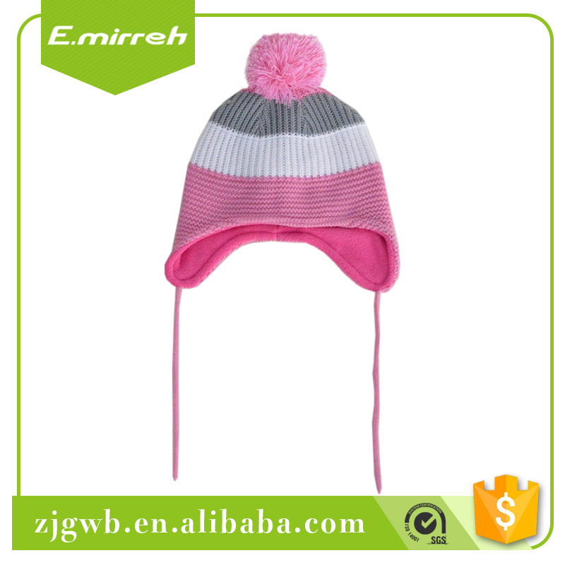 Wholesale price fleece beanie hat infant and mittens