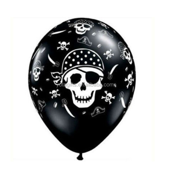Skull printing on all around latex balloon for Hallowmas decoration