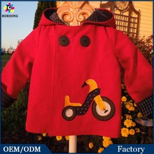 The OEM Service Wholesale Kids Outwear 2015 Brand New Design Autumn Straight Girls Coat