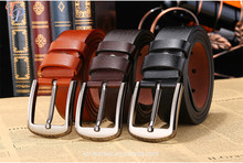 hot sale cheap commercial pin buckle men leather belt