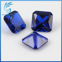 square shape princess octagon synthetic sapphire gem stone