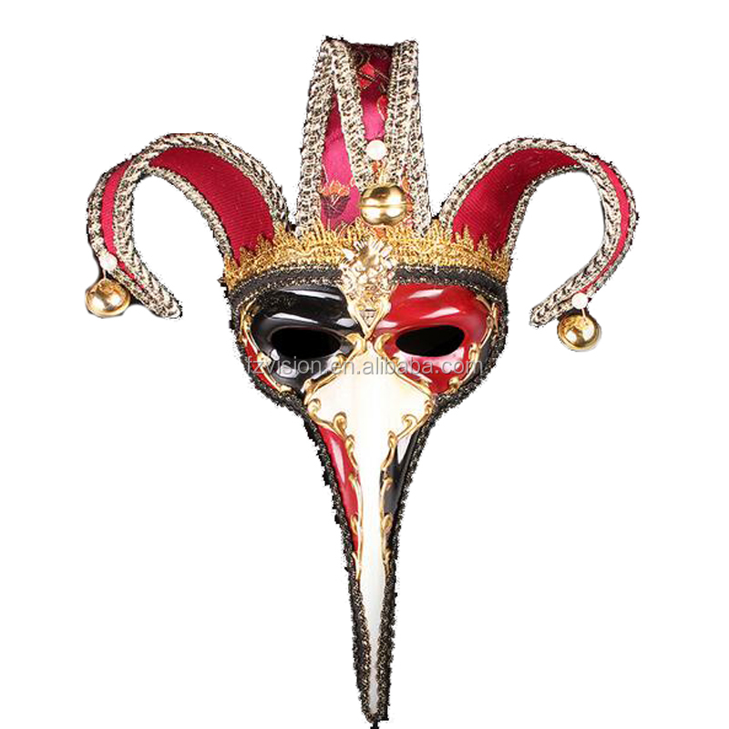 Plastic Carnival Venice Long Nose Party Mask