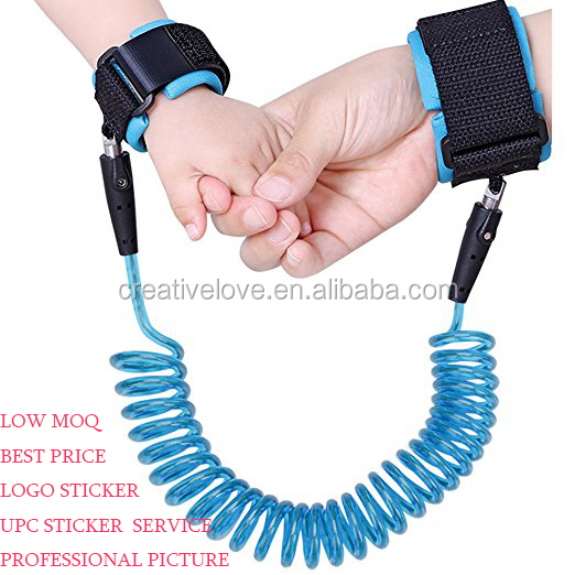 2017 Amazon Hot Selling Child Anti Lost Wrist Link Safety Velcro Wrist Link