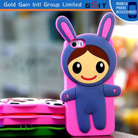 New Coming 3D Silicon Rinka Doll Case For Samsung S4 I9500 3D Cute Cartoon Silicon Case For Galaxy S4