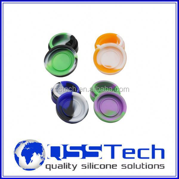 Hot sale cured 3ml plastic container making machine/ silicone customized bho oil container/ silicone bho container
