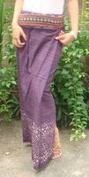 Cotton Thai Skirt Sarong Hippie Boho Bohemien Gypsy Maternity