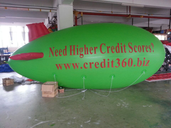inflatable blimp for advertising ground opening event