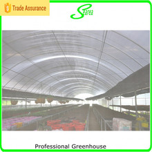 High tunnel greenhouse for hot weather area