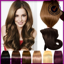 Wholesale alibaba new products high quality 100% remy human hair double drawn full end clip in hair extension