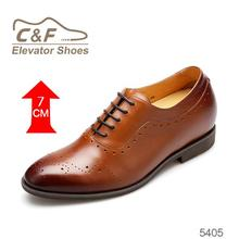 Men height elevator shoes brown/shoe makers in china