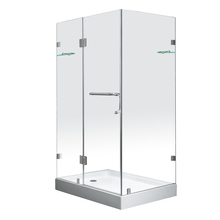 Hinge cheap price frameless clear glass shower door, bathroom shower booth