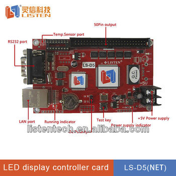 2 CPU LED Sign controller with LAN port for high-speed communication