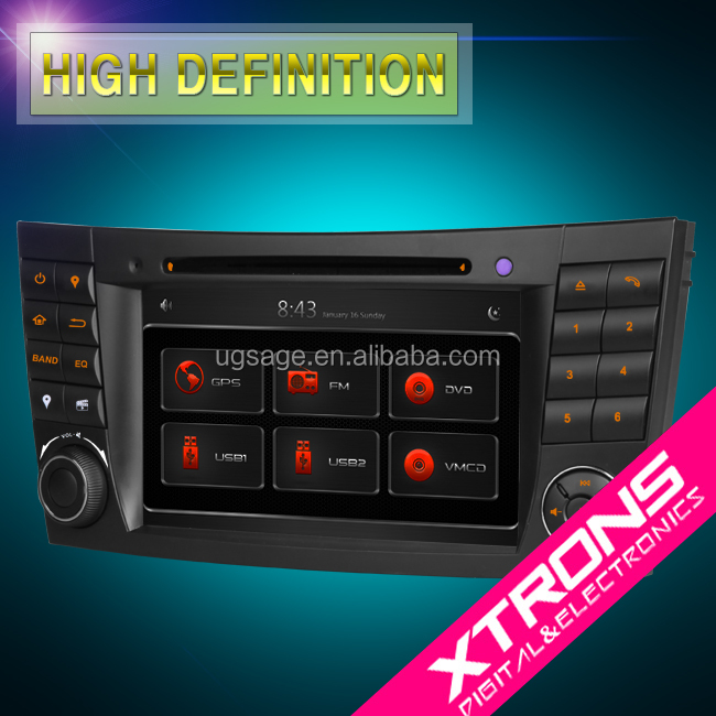 "XTRONS PF7M211GT 7"" MTK 2 din car radio cd for mercedes w211e class with GPS navigation Dual CANbus"