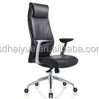 PU leather upholstered executive swivel China recliner chair,modern style leather office chair computer chair with neck support