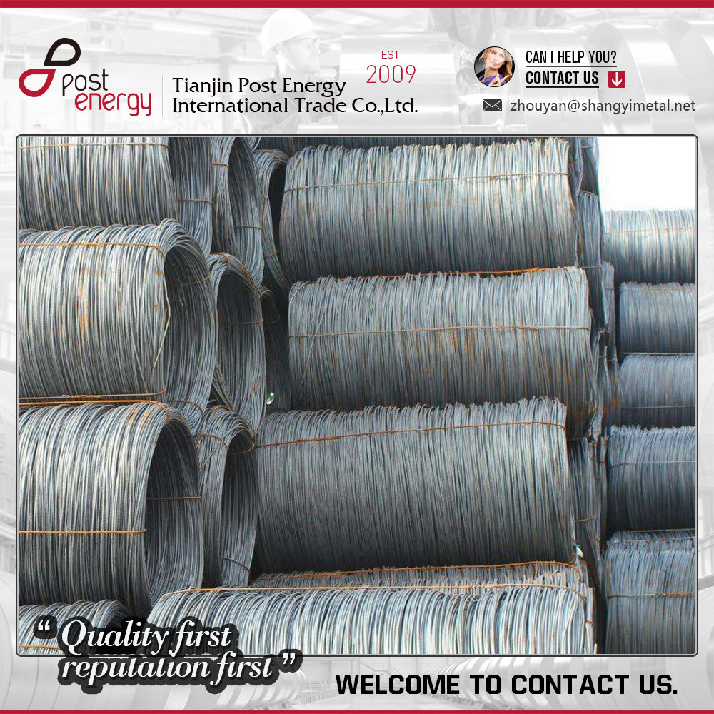 Hot rolled steel wire rods SAE 1008 8mm in coils for welding electroding
