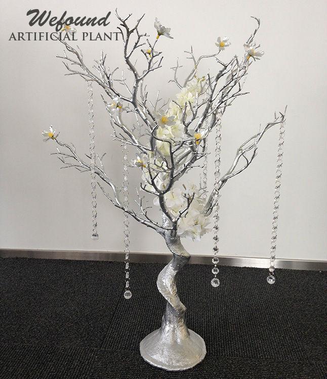 Wd0323 29 Crystal Siver Wedding Table Centerpiece Manzanita Tree