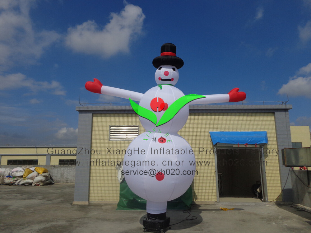 Festival promotional decoration Christmas cartoon 4MTall inflatable snowman airdancer
