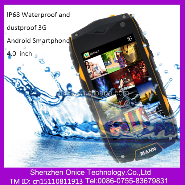 "Original 4.0"" mann zug 3 mobile phone a18 ip68 smartphone rugged tough Qualcomm Dual Core Android 4.3 Waterproof 3G dual core"