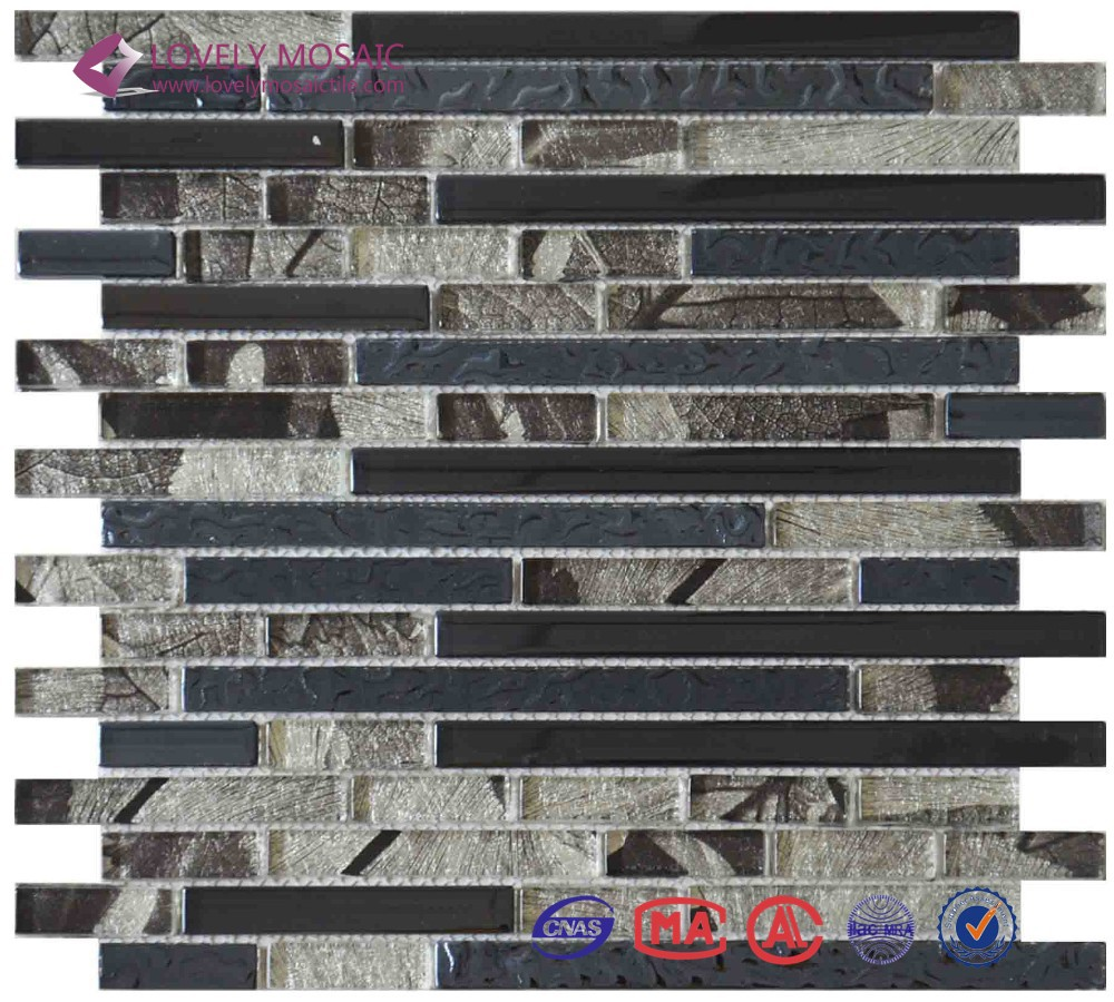 hotel crystal glass strip free mosaic flower patterns