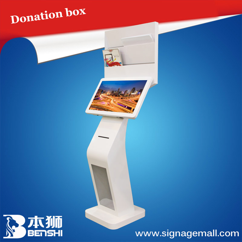 "3g wifi touch screen full hd 22"" floor-standing advertising kiosk/ tft lcd touchscreen monitor"
