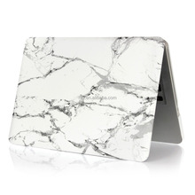The Latest Marble Matte Hard Case Perfect fit for Macbook Pro 13.3 inch(White with strip)