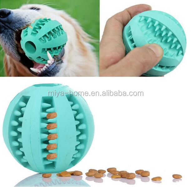 Hot selling Dog Chew Toys Tooth Cleaning Balls of Food 7cm / Pet Dog Toy Rubber Ball Toy / Running ABS Pet Toys Ball
