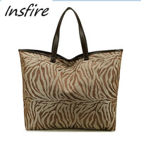 Leopard Printed Long Handles Handbags for women tote popular designer unbranded handbags