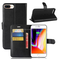 Wholesale for New Premium PU Leather Wallet Case Flip Phone Cover with Card Slots for iPhone 8
