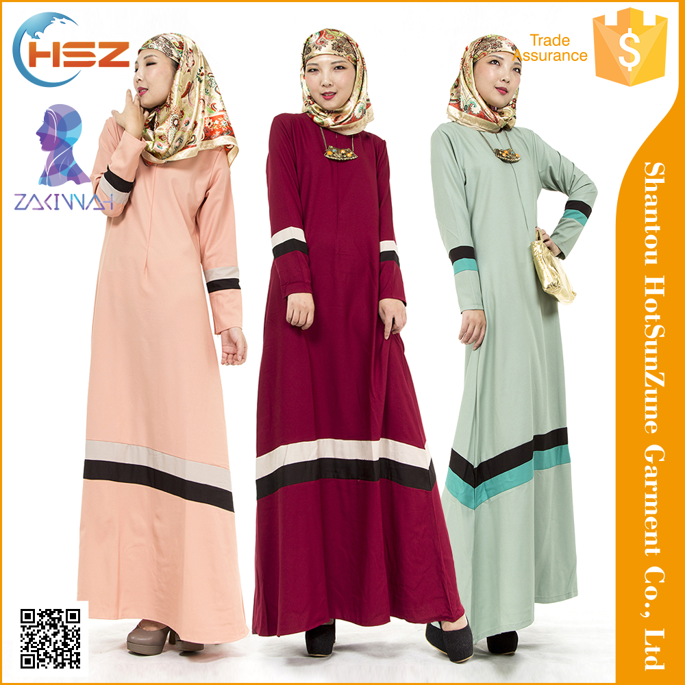 Zakiyyah 702 Charming <strong>Orange</strong>,Wine red.green design Jubah muslimah Custom Fit islamic long dresses