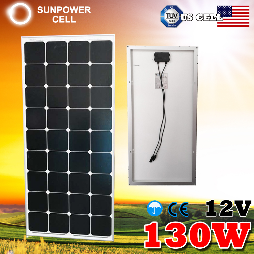 Monocrystalline 12V 130W Silicone Foldable Folding Solar Panel
