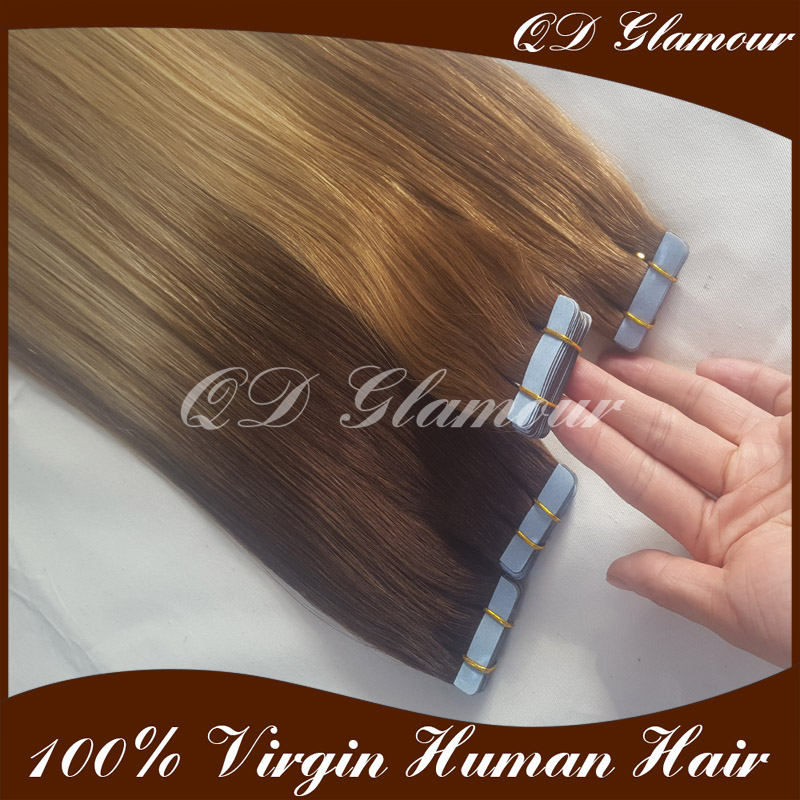 Alibaba express human hair tape extensions, Wholesale top quality tape hair, Brazilian Tape Hair Extensions