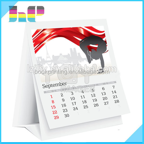 large quantity overseas calendar printing desk wall calendar printing on demand