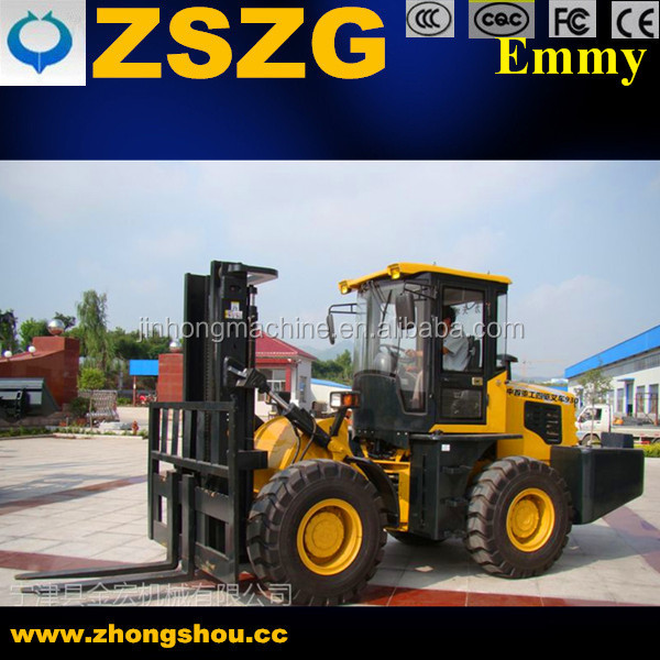 forklift truck with 2 ton rated lifting capacity forklift loaders 4WD