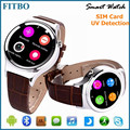 Portable FM SIM smart android watch for Lg G4 G3 G2 V10 samsung s6