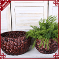 Indoor planters natural water hyacinth woven plant basket lowes wholesale flower pots
