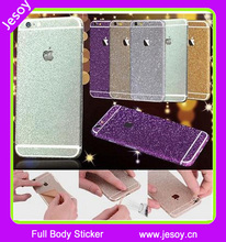 JESOY Smartphone Case Full Body Rainbow Gold Skin Glitter Decal Sticker Cover For iPhone 6 6S Plus