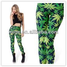 2014 leaf leggings woah dude 2.0 hwmf leggings women mature slimming leggings DL040